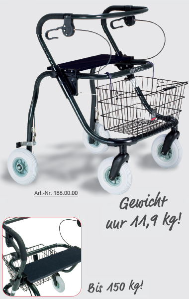 medi stahlrollator bis 150 kg jumbo. Black Bedroom Furniture Sets. Home Design Ideas